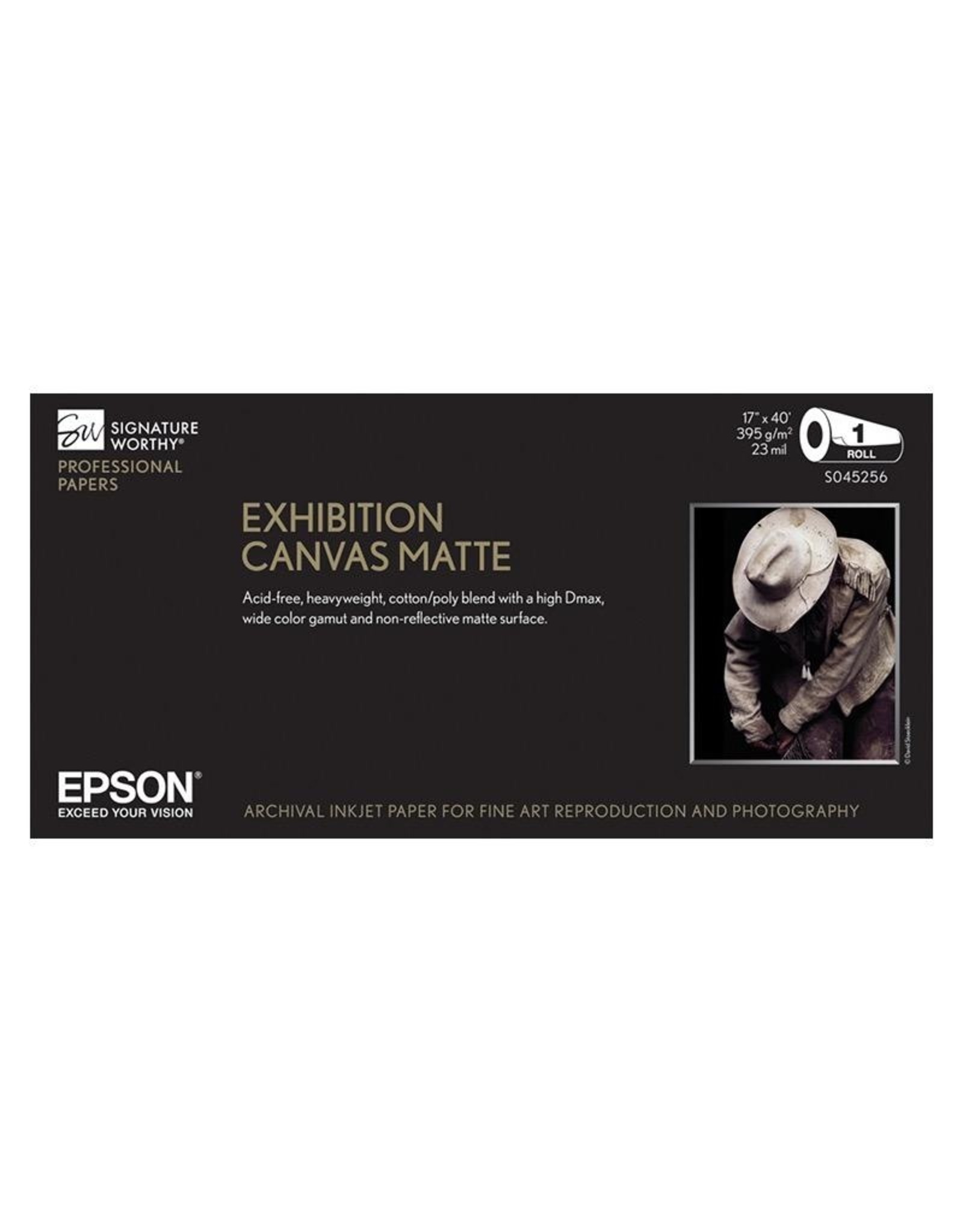 "Epson Epson Exhibition Canvas Matte 44""x40' roll"