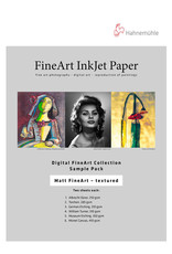 """Hahnemuhle Hahnemuhle Matte FineArt Textured Sample Pack, 2 sheets of each:  Albrecht Durer, Torchon, German Etching, William Turner 310, Museum Etching & Monet canvas 8.5"""" x 11"""", 12 sheets"""