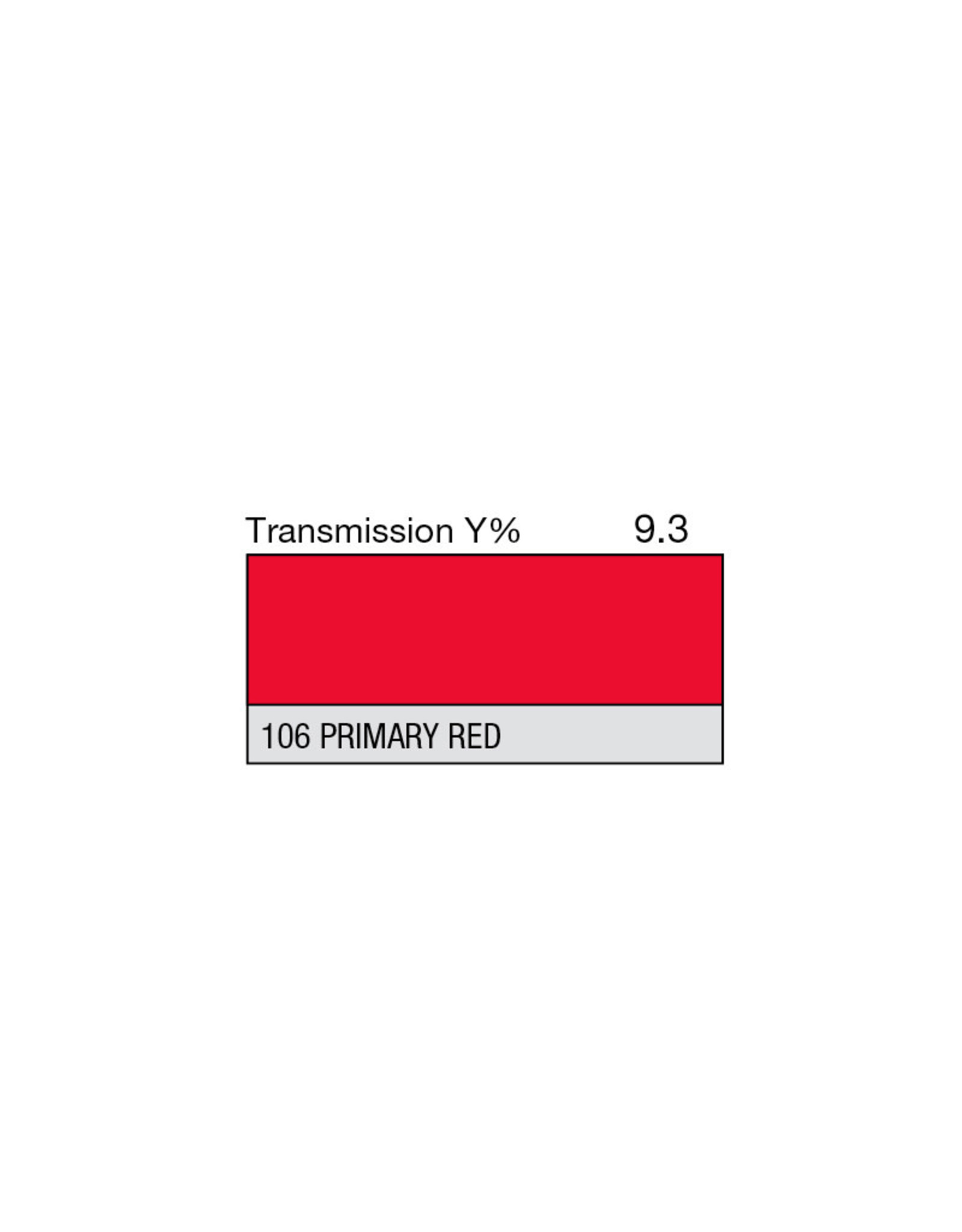 """Lee Filters Lee Filters Primary Red 20""""x24"""" sheet"""