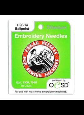 Organ Organ Embroidery Ballpoint Titanium Needles  90/14