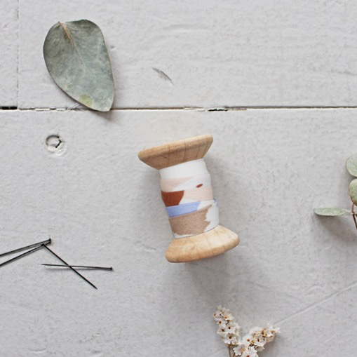 Atelier Brunette Bias Tape Granito Off-White