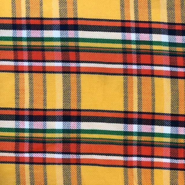 Fabric Mart Yellow / Orange / Green / Blue Twill Woven Plaid