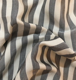 Michael Levine Black / Natural Striped Poly Twill Lining