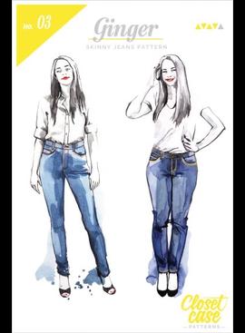 Closet Core Patterns Closet Core Patterns Ginger Skinny Jeans