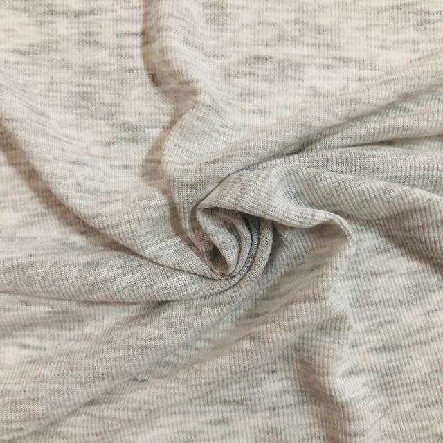 S. Rimmon & Co. Lightweight Heather Grey Ribbed Cotton Knit