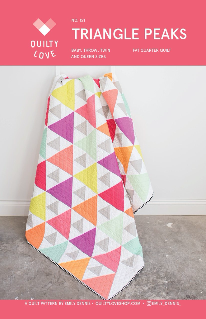 Quilty Love Triangle Peaks Quilt Pattern by Quilty Love