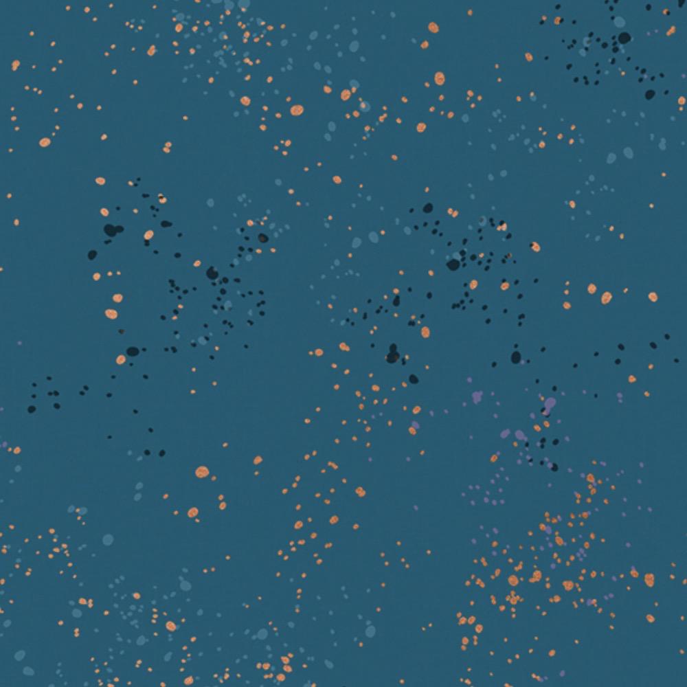 Ruby Star Society Speckled by Rashida Coleman Hale for Ruby Star Metallic Teal
