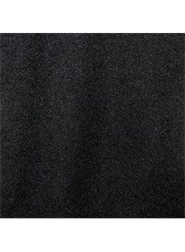 Exotic Silks Herringbone Weave Silk Noil Black