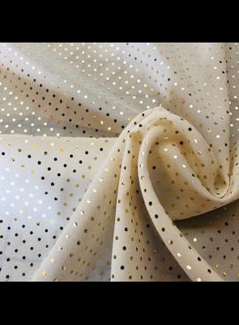 Michael Levine Ivory / Gold Stretch Silk