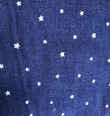 Kokka Kokka Tiny Corduroy Stars Navy