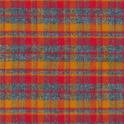 Robert Kaufman Mammoth Flannel Crimson