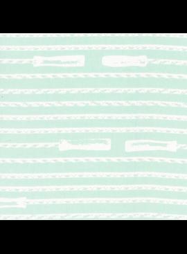 Hoffman Fabrics Double Dutch Jump Ropes by Latifah Saafir Studios - Mint