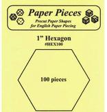 """Paper Pieces Paper Pieces 1"""" Hexagon 100 pc"""