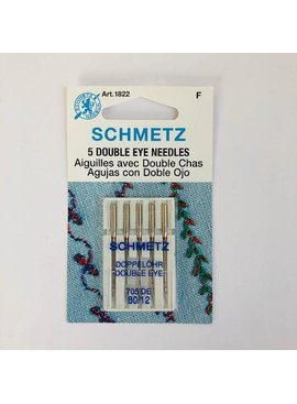 Schmetz Schmetz Double Eye 5pk sz 12/80