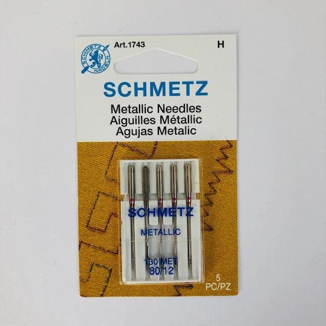 Schmetz Schmetz Metallic 5-pk sz 12/80