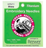 Organ Organ Embroidery Sharps Titanium Needles 75/11