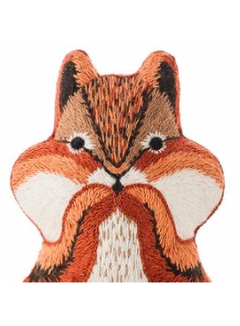 Kiriki Press Kiriki Press Embroidered Doll Kit Chipmunk
