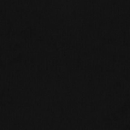 Robert Kaufman Kona Cotton Black