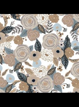 Cotton + Steel Garden Party by Rifle Paper Co. Juliet Rose Linen Multi Canvas