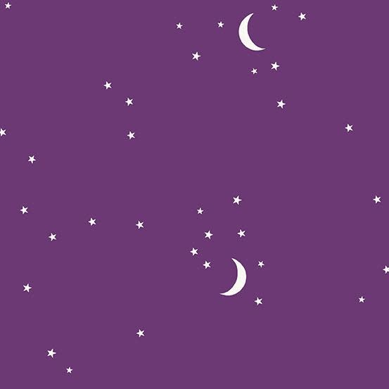 Andover Moon and Stars Aubergine by Andover Fabrics