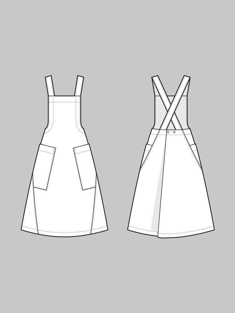 The Assembly Line Patterns Apron Dress pattern by The Assembly Line Patterns
