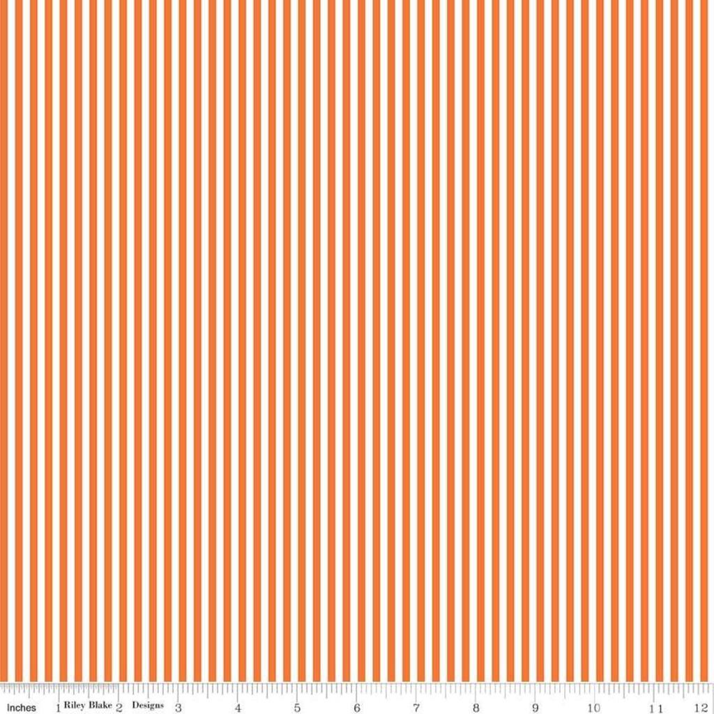 "Riley Blake 1/8"" Stripe Orange by Riley Blake"