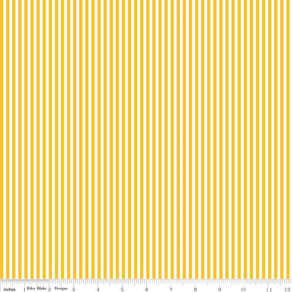 "Riley Blake 1/8"" Stripe Mustard by Riley Blake"