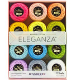 WonderFil WonderFil Eleganza Pack Pastels Colorway Perle Cotton Size 8 12pk