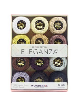 WonderFil WinderFil Eleganza Pack Neutral Colorway Perle Cotton Size 8 12pk