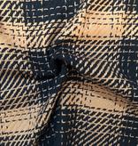S. Rimmon & Co. Plaid Wool Blend Black / Sienna