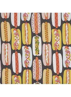 Alexander Henry Hot Dog! Laminated Cotton by Alexander Henry