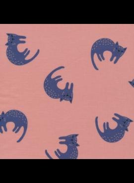 Cloud 9 Cloud 9 Organic Matte Laminated Cotton Sweet Cats Pink / Blue