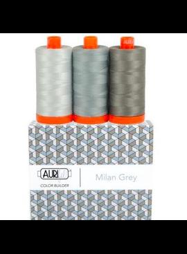 Aurifil Aurifil Color Builder Milan Grey 50wt 3pk