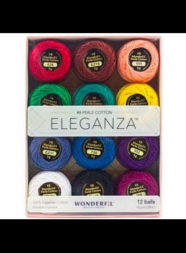 WonderFil WonderFil Eleganza Pack Kaleidoscope Colorway Perle Cotton Size 8 12pk