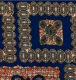 "Fabrics USA Inc African Wax Print - Blue, Orange ""Bandana"" print"