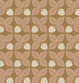 Cotton + Steel Along the Fields by Cotton + Steel Strawberry Midsummer Gold Canvas