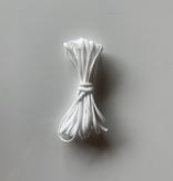 "EE Schenck 1/6"" Banded Stretch Elastic White (5yd Bundle)"