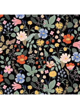 Rifle Paper Co Strawberry Fields by Rifle Paper Co. Black Rayon