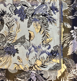 S. Rimmon & Co. Jacquard Tropical Tapestry Blue /Yellow