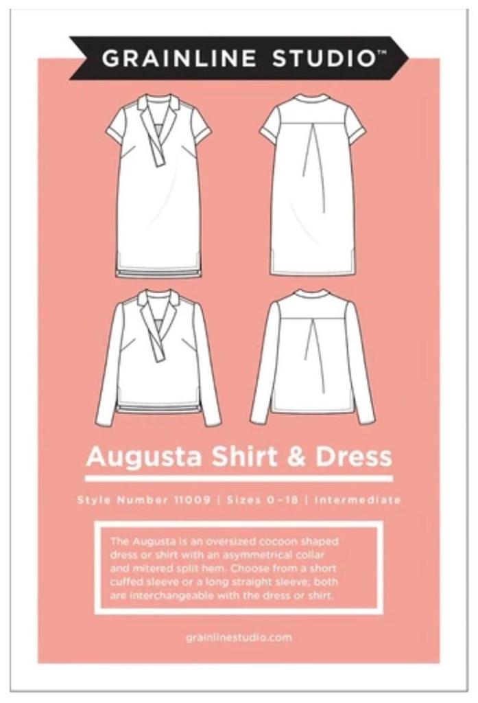 Grainline Studio Augusta Shirt and Tunic Pattern by Grainline Studio - Sizes 0-18
