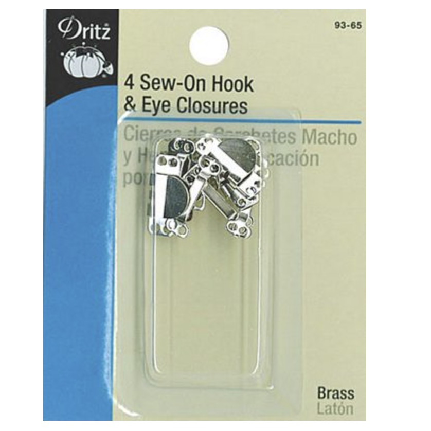Dritz Dritz Hook & Eye Closures Nickel