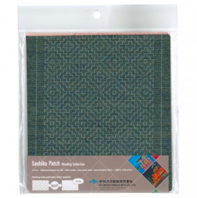 Olympus Sashiko Patch Mending Kit Blue Green