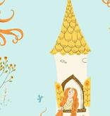 Windham Fabrics Far Far Away 2 by Heather Ross Rapunzel Sky Blue