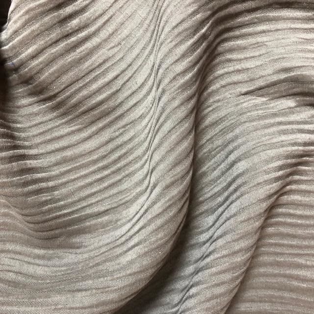 Exotic Silks Ribbed Silk / Linen Beige Taupe