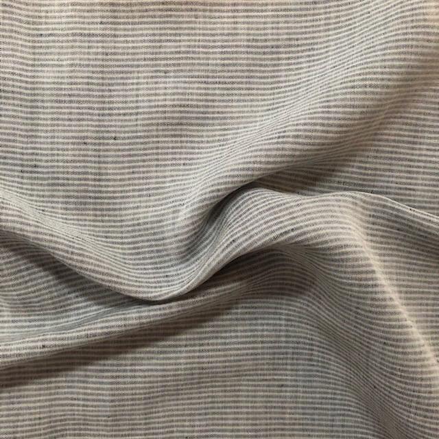 S. Rimmon & Co. Grey / Slate Blue Italian Pinstripe Woven