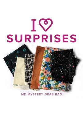 Modern Domestic Mystery Grab Bag of Quilting Fabric - Remnant Bundle