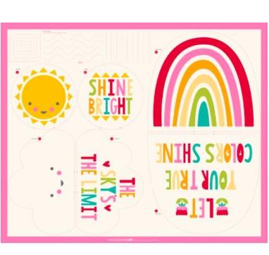 Moda Sunshine Rainbow Cloud Pillows Kit