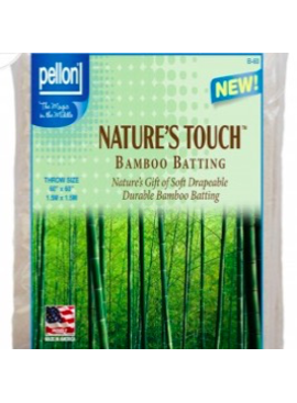 """Pellon Pellon Nature's Touch 50% Bamboo / 50% Cotton Batting Throw 60"""" x 60"""" LOCAL PICKUP ONLY"""
