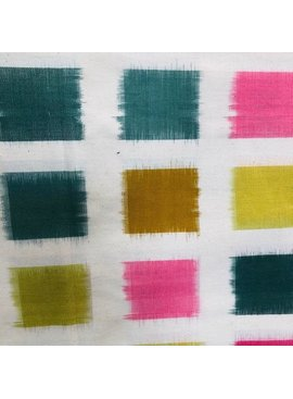 Diamond Textiles Heavyweight Ikat Pink / Lemongrass