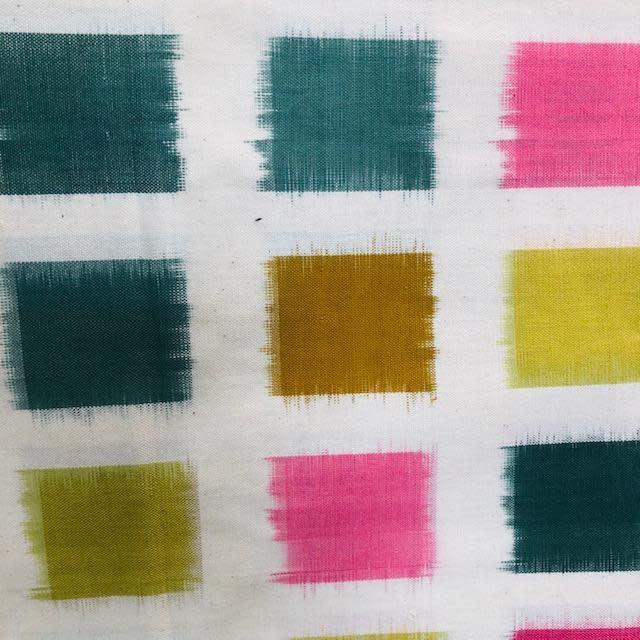 Diamond Textiles Heavyweight Ikat Pink / Lemongrass